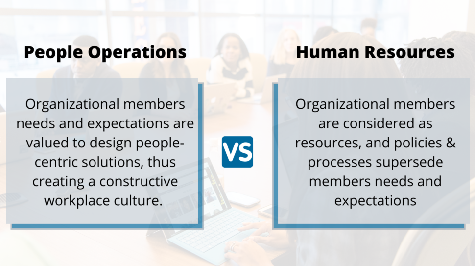People Operations(PeopleOps) and Human Resources